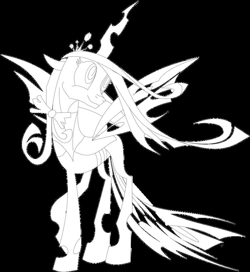 Chrysalis I (vector courtesy of IIXxQwErTyxXII) by NightPrincessLuna