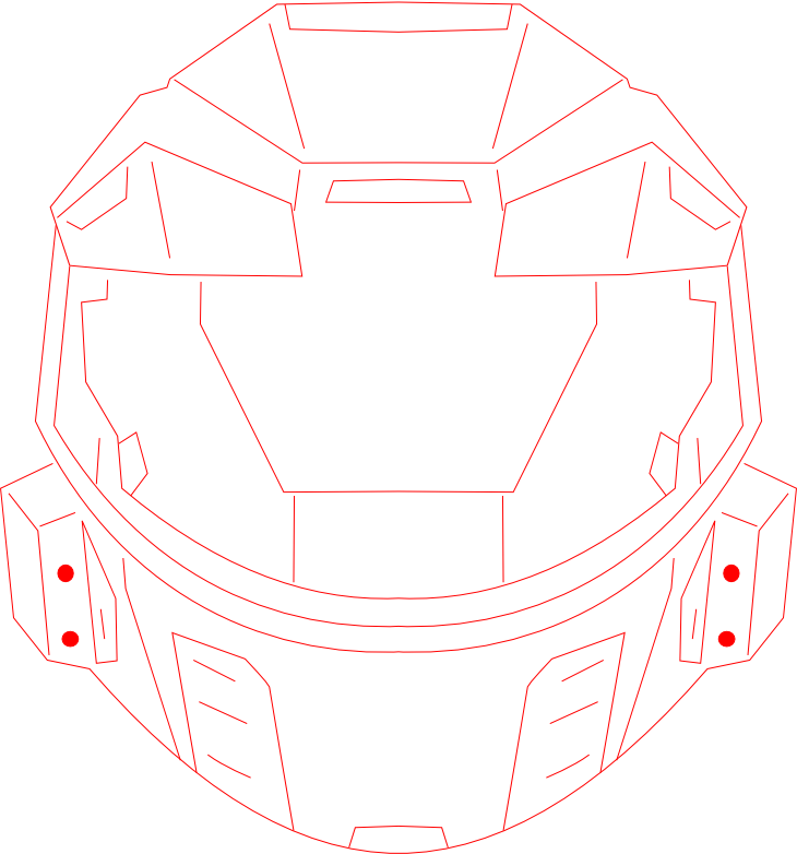 Halo Helmet (embroidery pattern) by NightPrincessLuna