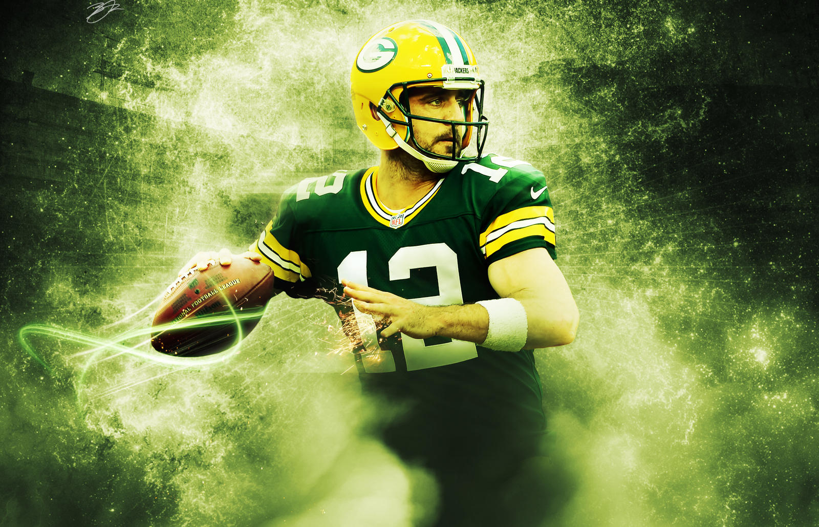 aaron rodgers a storm is coming wallpaper by hawkfan13 on