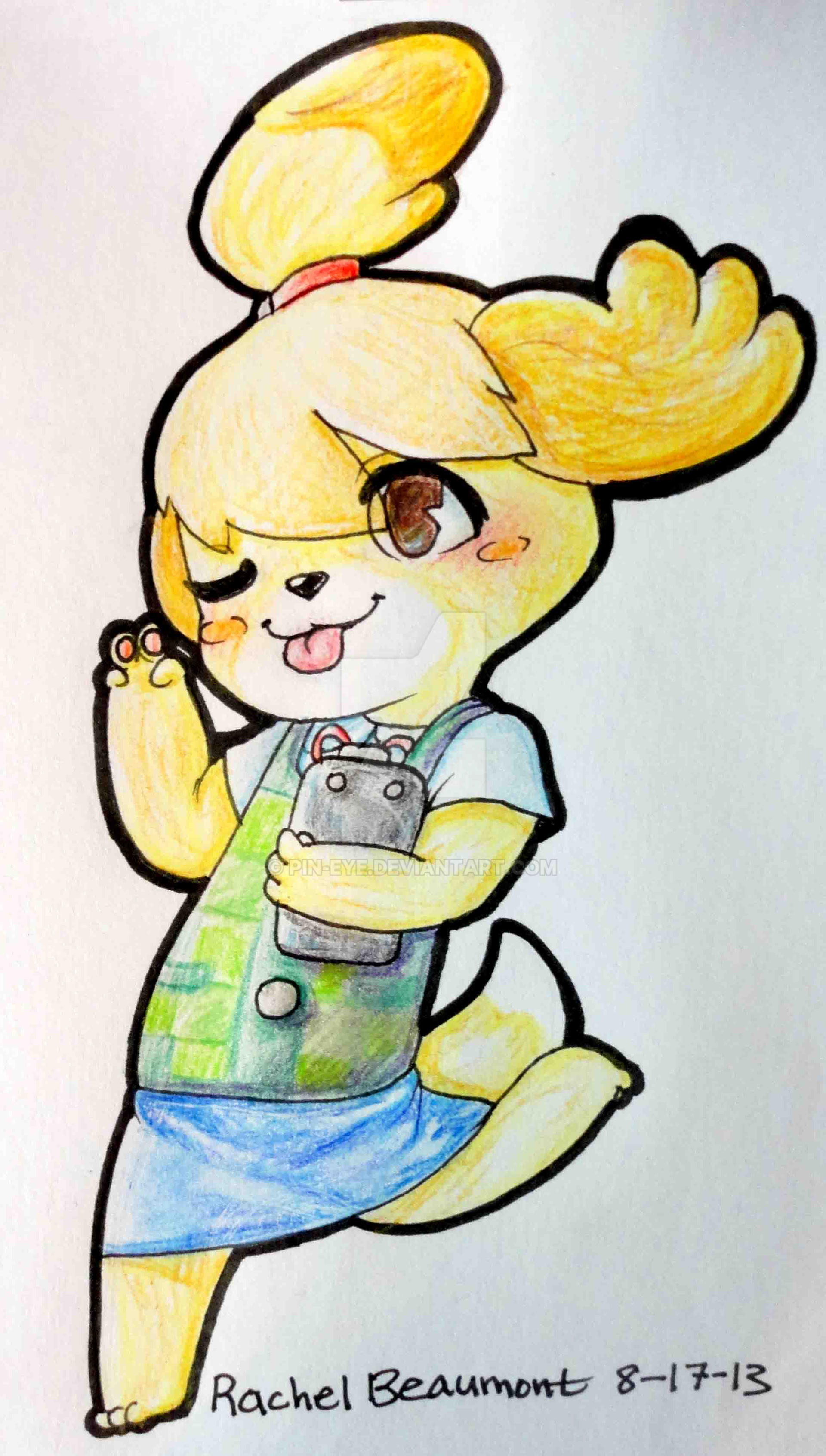 Animal Crossing New Leaf Isabelle by Pin-eye on DeviantArt