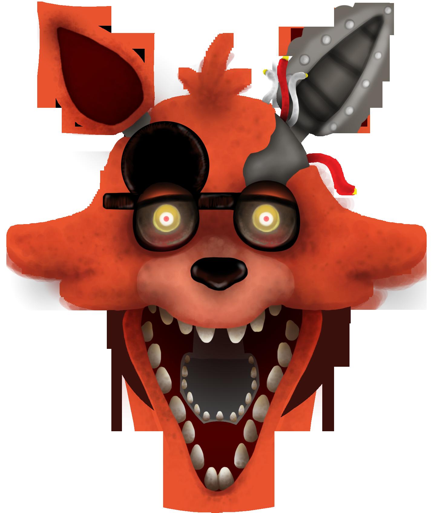 FNAF2 Foxy's Head By Pin-eye On DeviantArt