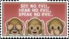 Monkeys No Evil Emoji Stamp by Pin-eye