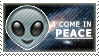 I Come In Peace Emoji Stamp by Pin-eye