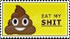 Eat My Shit Emoji Stamp by Pin-eye