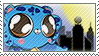 Turtlecat Stamp -- Chibi Over City by Pin-eye