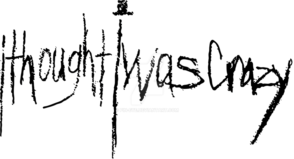 ithoughtiwascrazy Black Logo For Red Shirt by Pin-eye