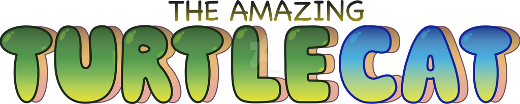 The Amazing Turtlecat Title Logo by Pin-eye