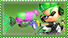 Green Inkling Stamp Working by Pin-eye