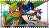 Goggles and Rider (from the Splatoon Manga)-Stamp by Pin-eye