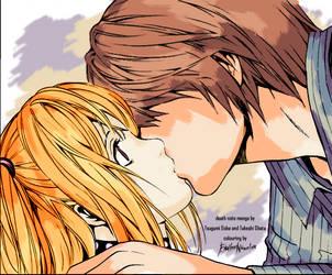 coloured manga: Light and Misa by End1ess-Name1ess