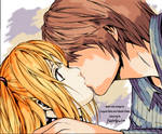 coloured manga: Light and Misa
