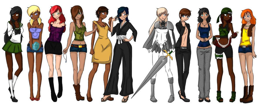 My Original Characters By Kamanari On Deviantart