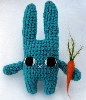 What Size Needle For Amigurumi : Amigurumi Bunny Rabbit And Needle Felted Carrot by ...