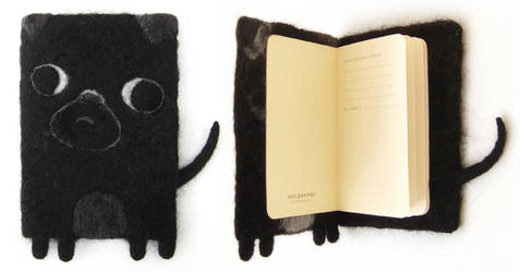 George - Pug Notebook / Journal by Poopycakes-makes
