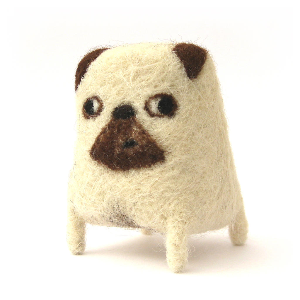 Eric - Needlefelted Pug by Poopycakes-makes