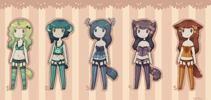 [SOLD OUT] - Lingerie Adopts by Sergle