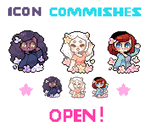 [ CLOSED ] flowery icon commishes