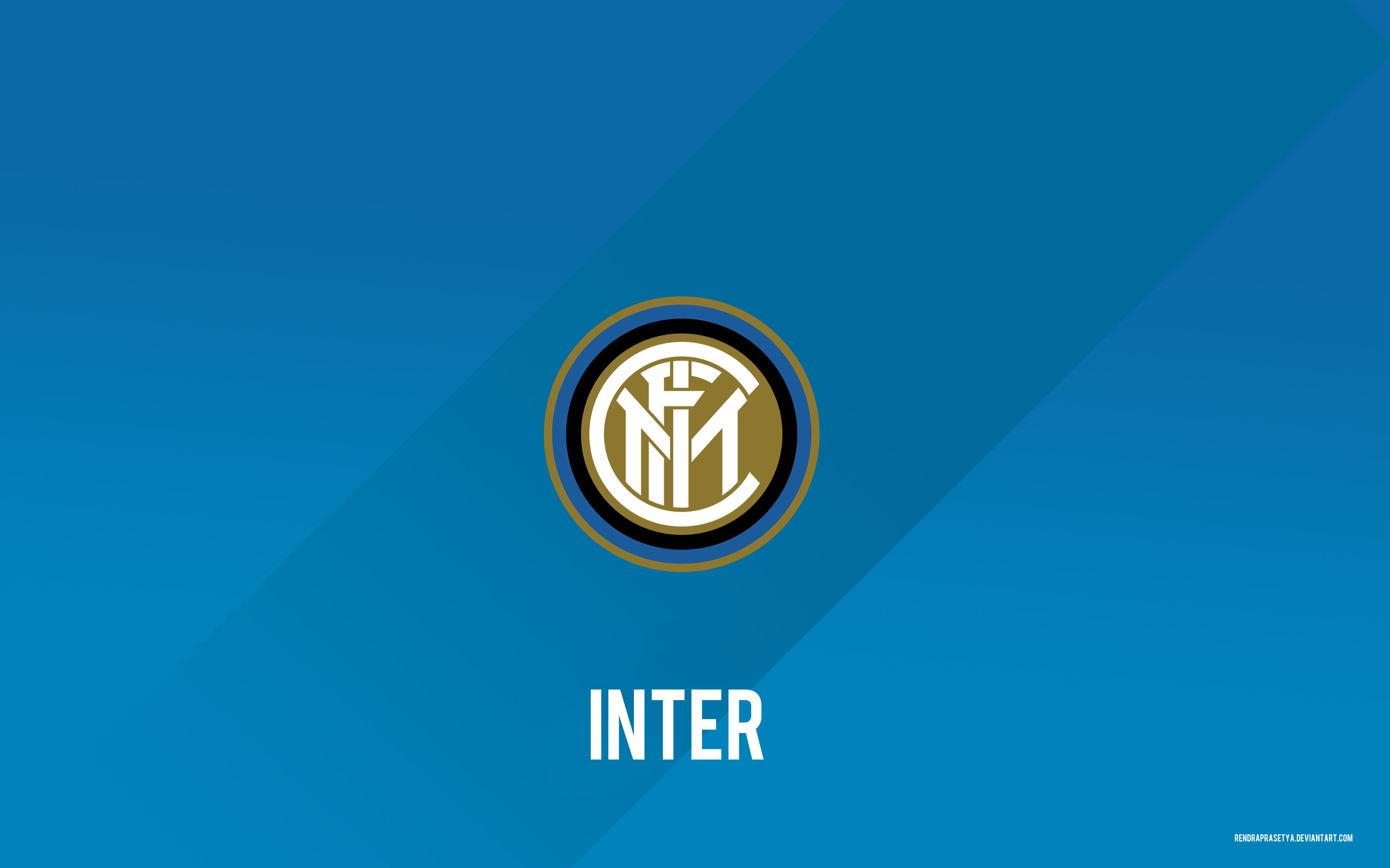 inter milan logo wall 2014 by rendraprasetya on deviantart. Black Bedroom Furniture Sets. Home Design Ideas