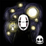 Kaonashi Lantern by xMorfina92