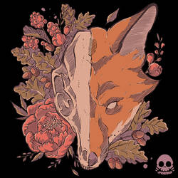 Autumn Fox Skull