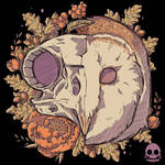 Autumn Barn Owl Skull by xMorfina92