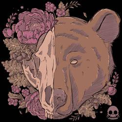 Autumn Bear Skull