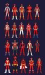 All Red Rangers by Pokerangerfun98