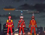 Red Rangers Warriors crossover by Pokerangerfun98