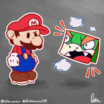 Paper Mario: Why is Bowser literally a sheet