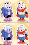 Fall Guys: Sans and Papyrus