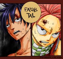 Fairy Tail panel coloring by TakuSalvemini