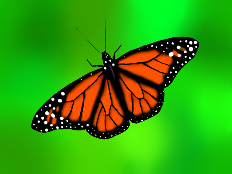 Monarch Butterfly Painting By Natster105 On DeviantArt