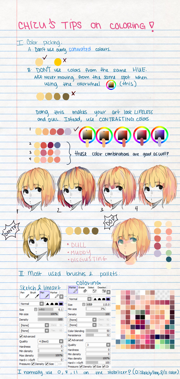 My Tips On Coloring By Chilichizu On Deviantart
