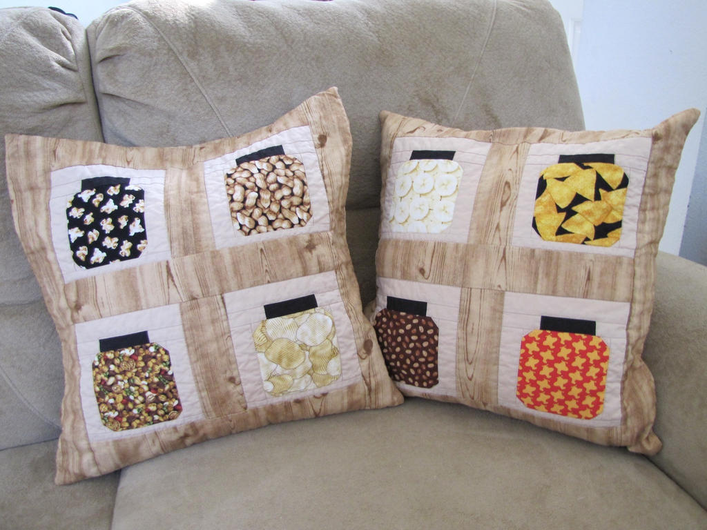 Candy Jar Pattern Quilted Pillow Cases by KatysCornerTx on DeviantArt : quilted pillow cases - Adamdwight.com