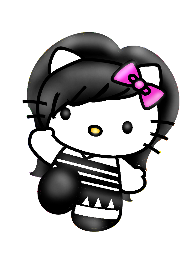 Emo Hello Kitty Coloring Pages : Emo hello kitty by slitkitten on deviantart coloring