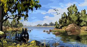 Totoros in autumn