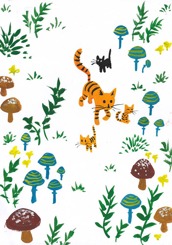 Mushroom cats by jjnaas
