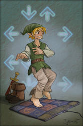 Link plays DDR by jjnaas