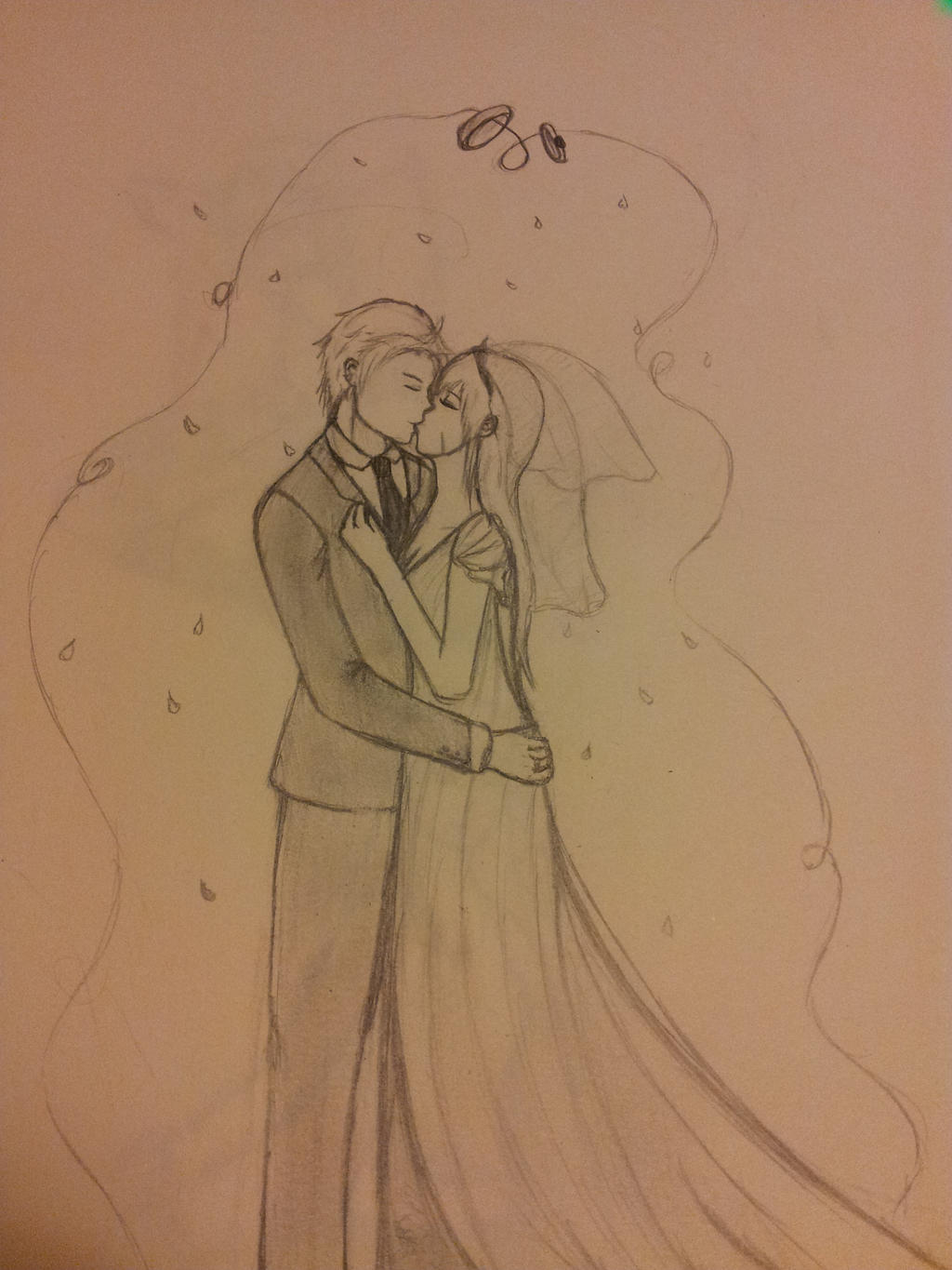 the wedding kiss by Artsick-and-Awesome