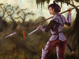 Spear woman