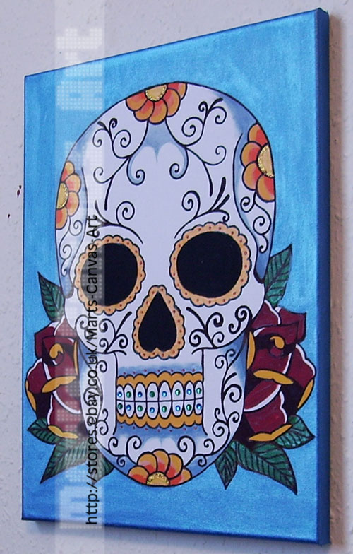 Day Of The Dead Mexican Skull By MartsKustomArt