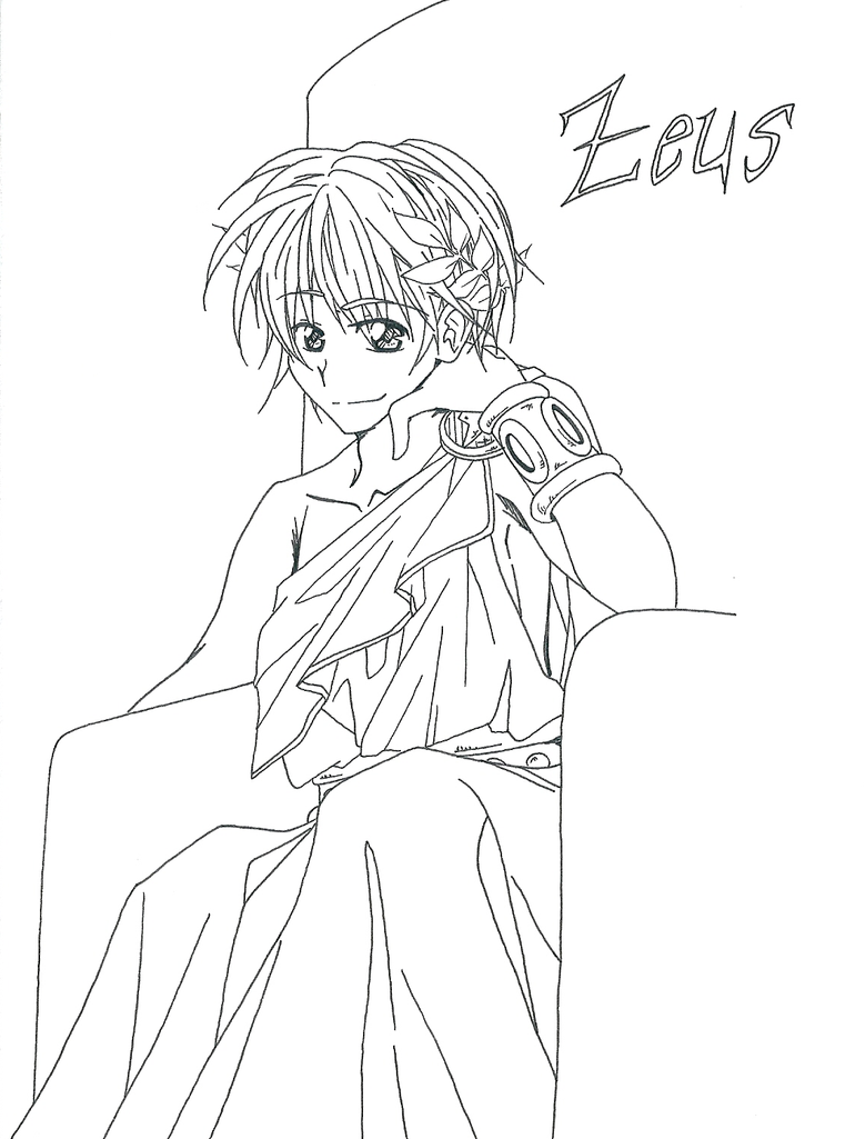 Coloring Pages Zeus : Hera and zeus coloring page