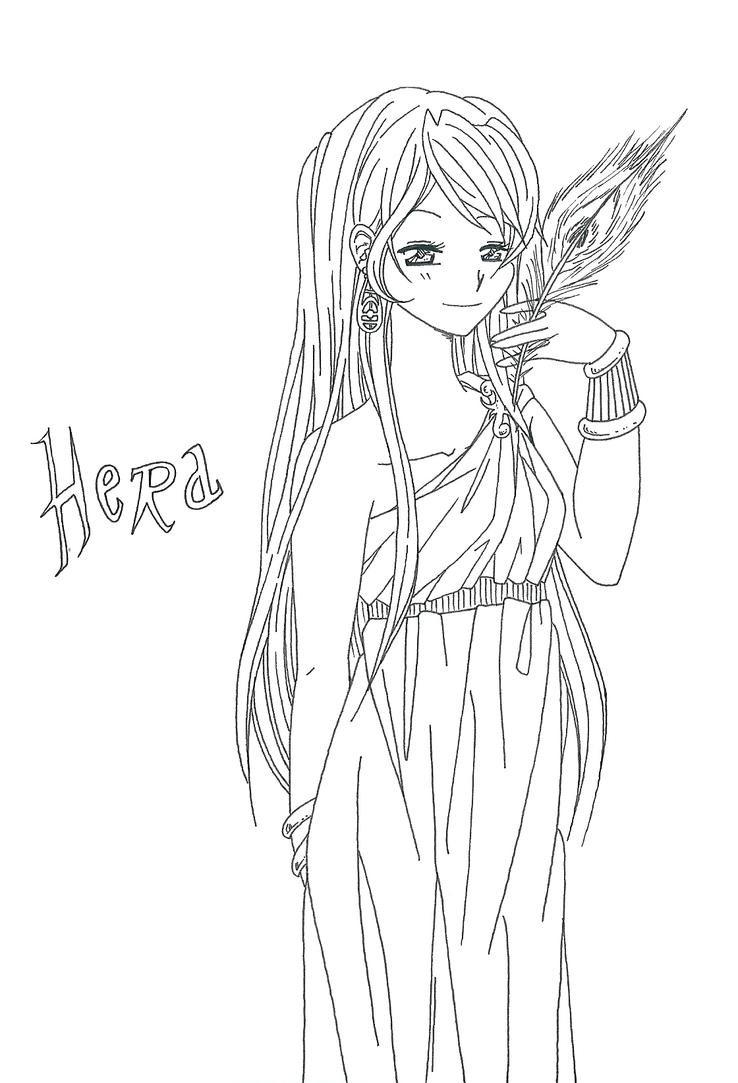 Hera Greek Goddess Cartoon Hera by lily-gardis