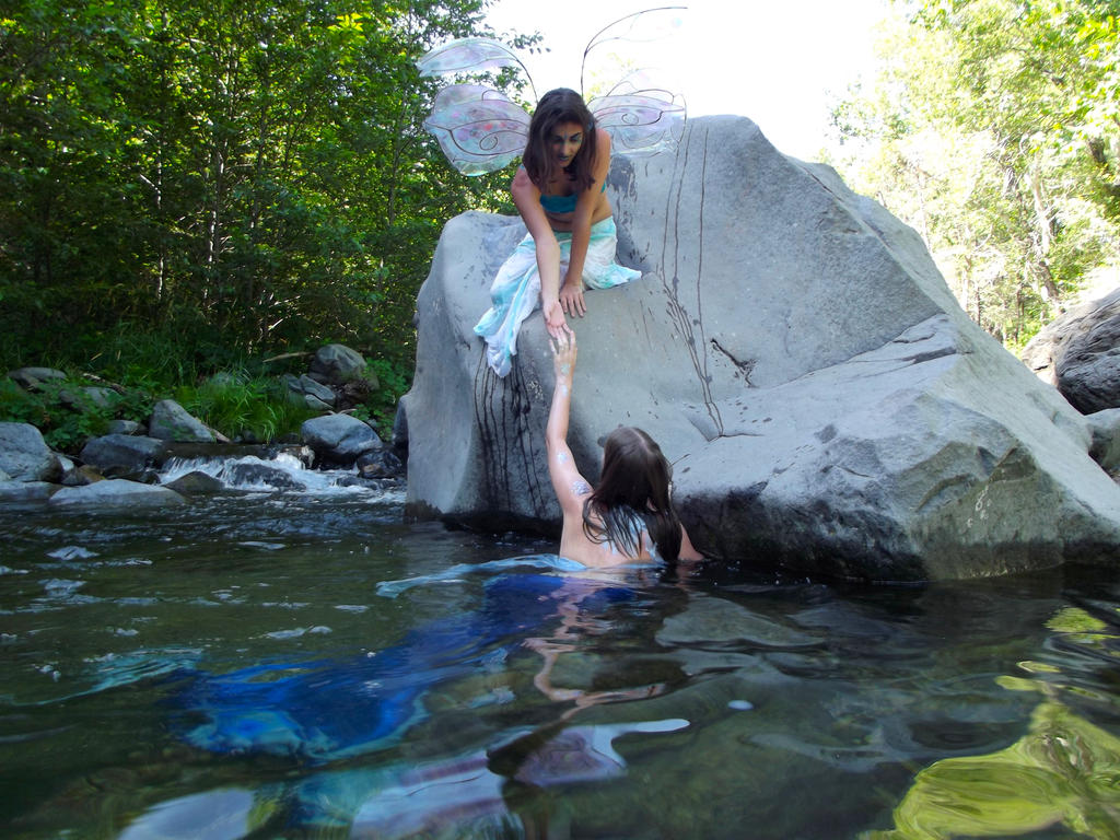 Mermaid and Faerie I by pyrodice