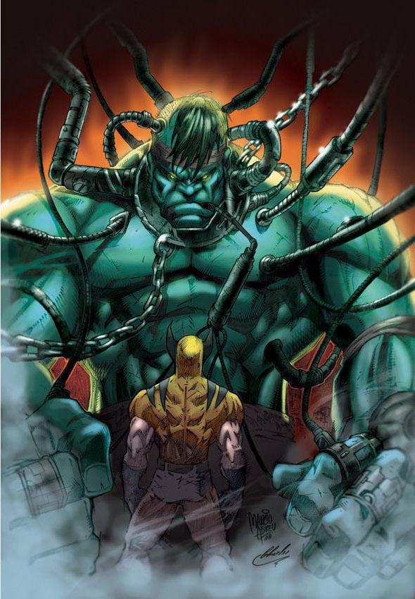 Hulk Wolverine Color by MARCIOABREU7