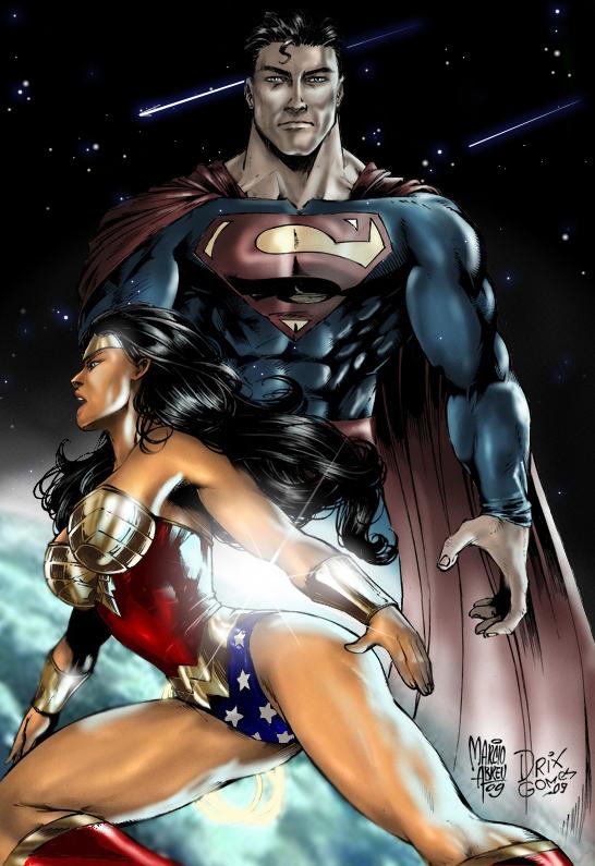 SUPERMAN_WONDERWOMAN COLOR by MARCIOABREU7