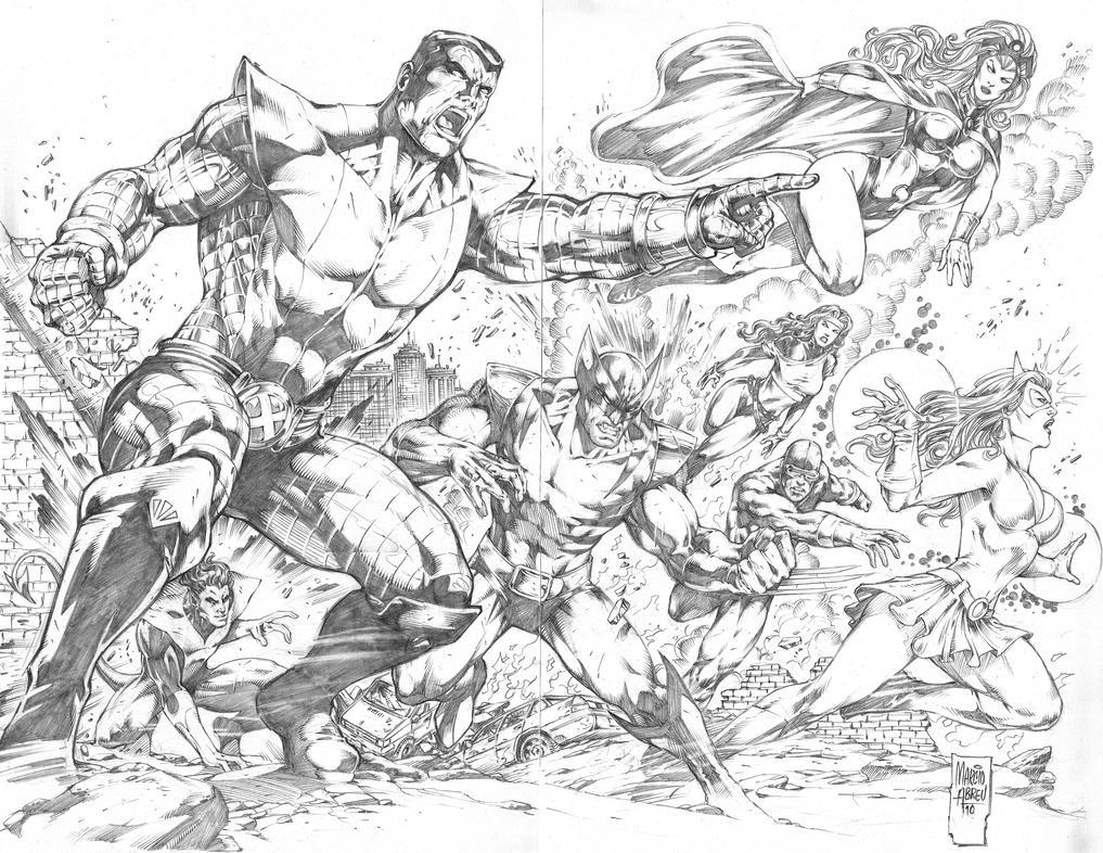 Double Page X-men by MARCIOABREU7