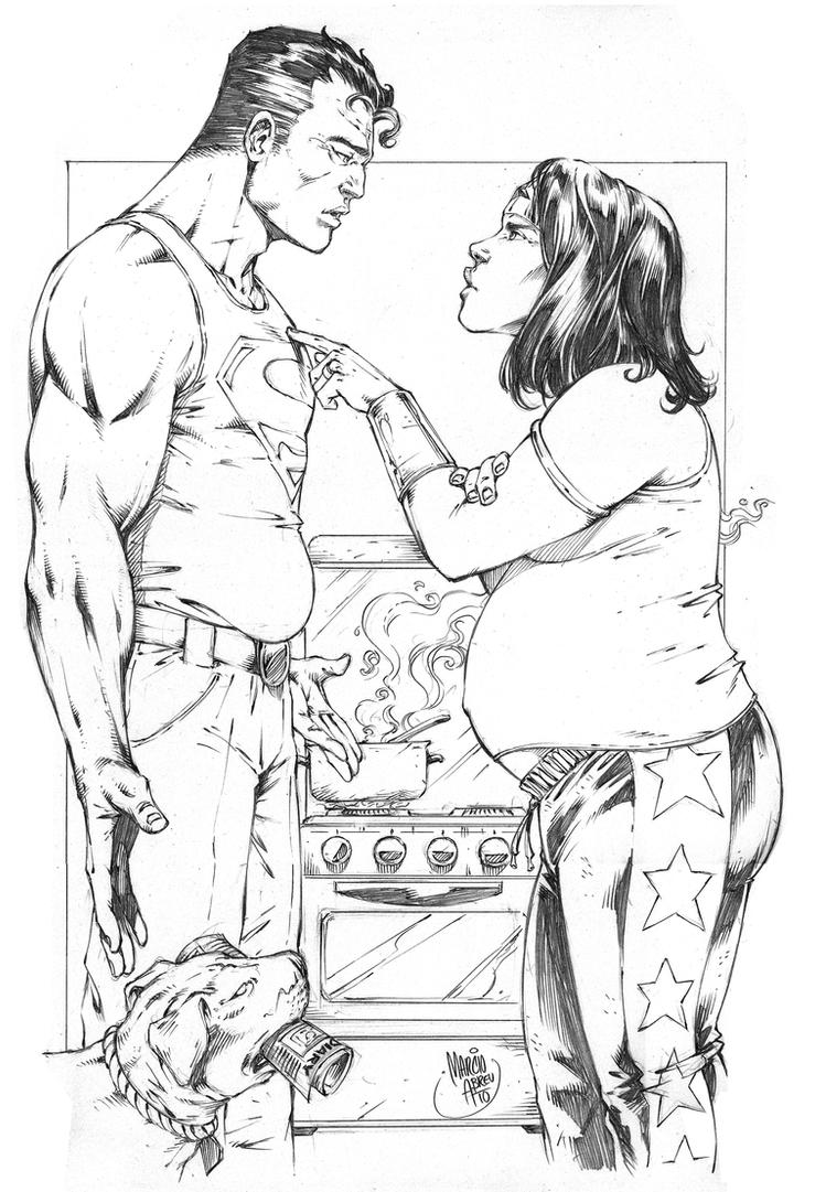 Marriage Superman_Wonderwoman by MARCIOABREU7