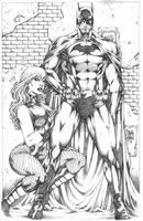 Batman__BlackCanary by MARCIOABREU7