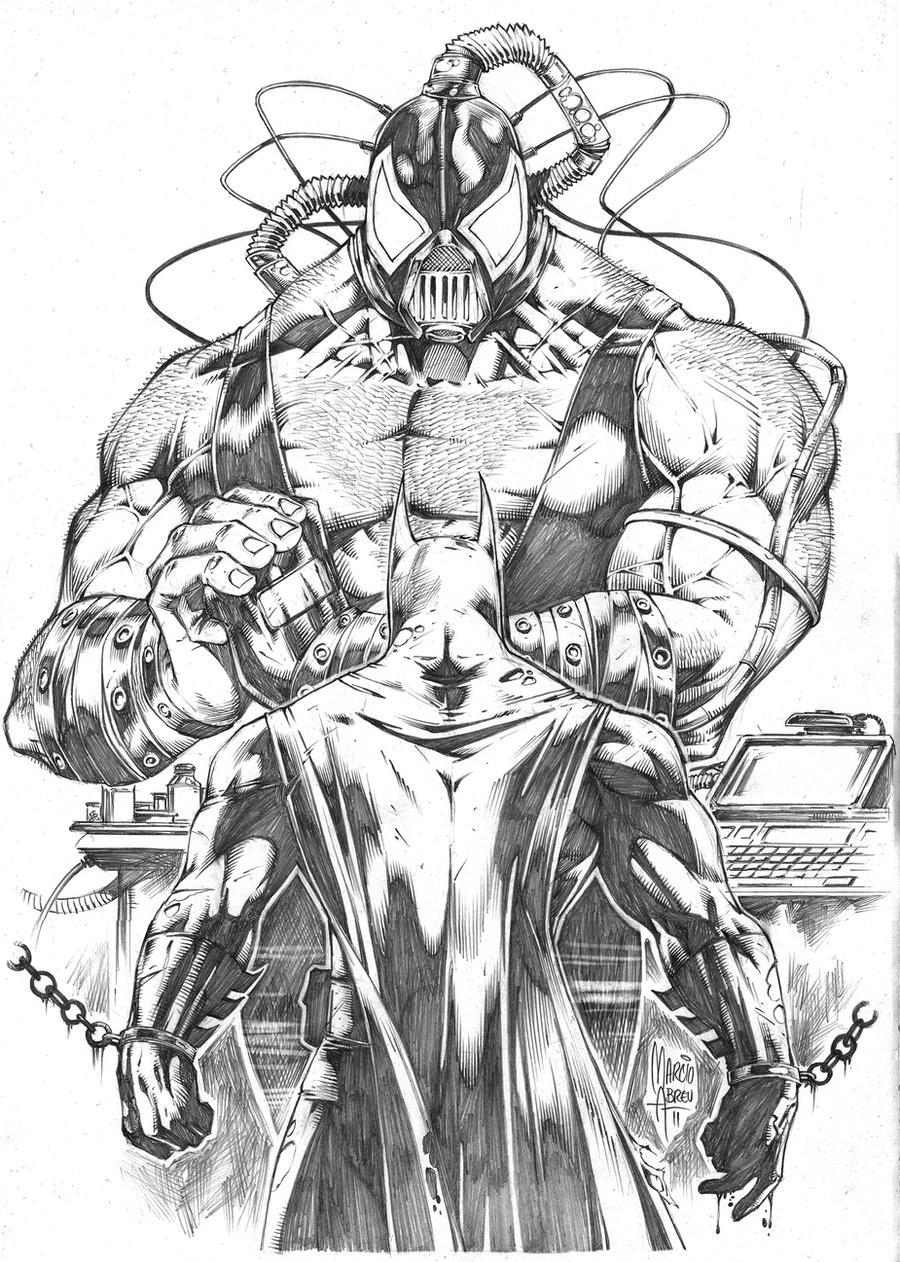 Batman x Bane by MARCIOABREU7 on DeviantArt